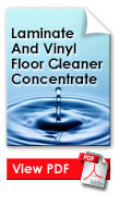 Laminate And Vinyl Floor Cleaner Concentrate
